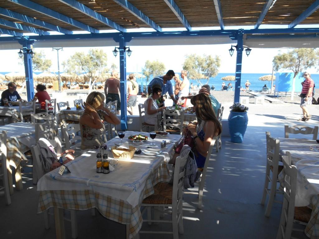 Filippos Restaurant Perivolos Beach Santorini
